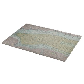 Vintage Map of New York City (1901) Cutting Board