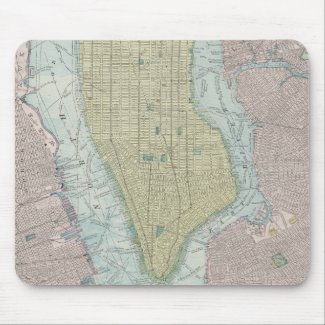 Vintage Map of New York City (1901) Mouse Pad