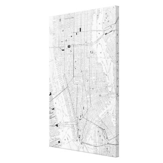 Vintage Map of New York City (1911) Gallery Wrap Canvas