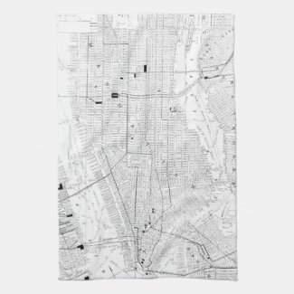 Vintage Map of New York City (1911) Hand Towel