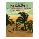 Vintage Miami Beach, Florida, USA - Postcard