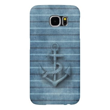 Vintage nautical manly classy anchor samsung galaxy s6 case