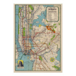Vintage New York Subway map Poster