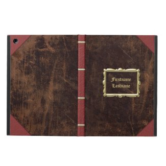 Vintage Old Book Leather-Look Personalized Case For iPad Air