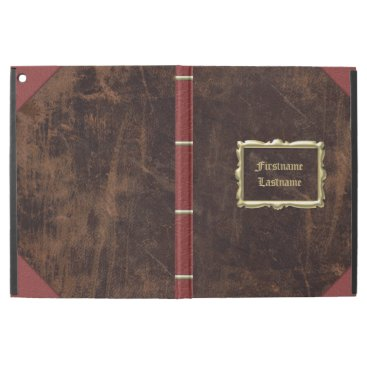 """Vintage Old Book Leather-Look Personalized iPad Pro 12.9"""" Case"""
