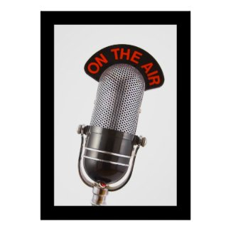 Vintage On The Air Microphone print