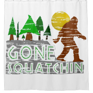 funny bigfoot shower curtains zazzle