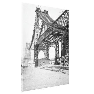 Vintage Photograph of the Williamsburg Bridge Canvas Print