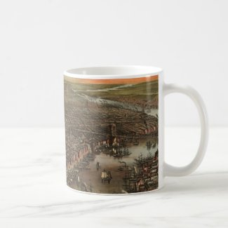 Vintage Pictorial Map of New York City (1873) Mug