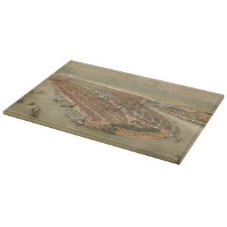 Vintage Pictorial Map of New York City (1874) Cutting Boards