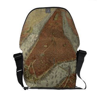 Vintage Pictorial Map of New York City (1879) 2 Messenger Bag