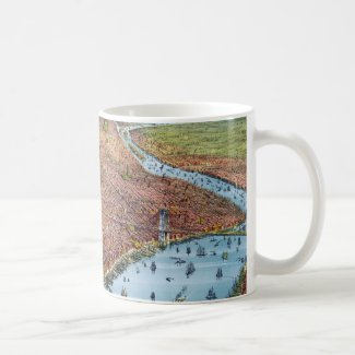 Vintage Pictorial Map of New York City (1879) Coffee Mug
