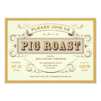 Vintage Pig Roast Invitations