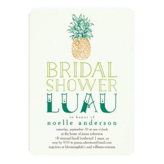 Vine Pineapple Luau Bridal Shower Invitation
