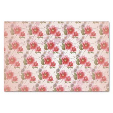 Vintage Poppy floral Tissue Paper