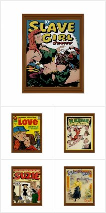 Vintage Posters Comic Art