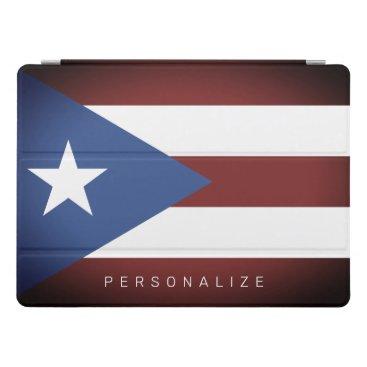 Vintage Puerto Rico flag custom 12.9 inch Apple iPad Pro Cover