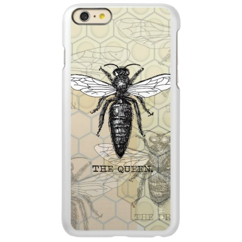 Vintage Queen Bee Illustration Incipio Feather Shine iPhone 6 Plus Case