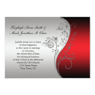 This Wedding Stationery Collection Features A Unique Silver Wired Heart With Red Beads Invitations