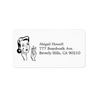 Vintage Reminder Bridal Shower RSVP Address Labels