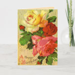 ❤️ Vintage Rose Birthday Card
