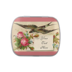 Vintage Roses and Swallow Candy Tin