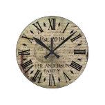 Vintage Rustic Antique Distressed Aged Custom Round Clock