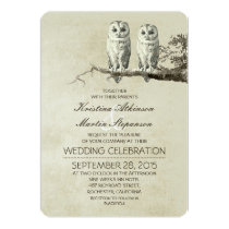 Owl Themed Retro Wedding Invitation