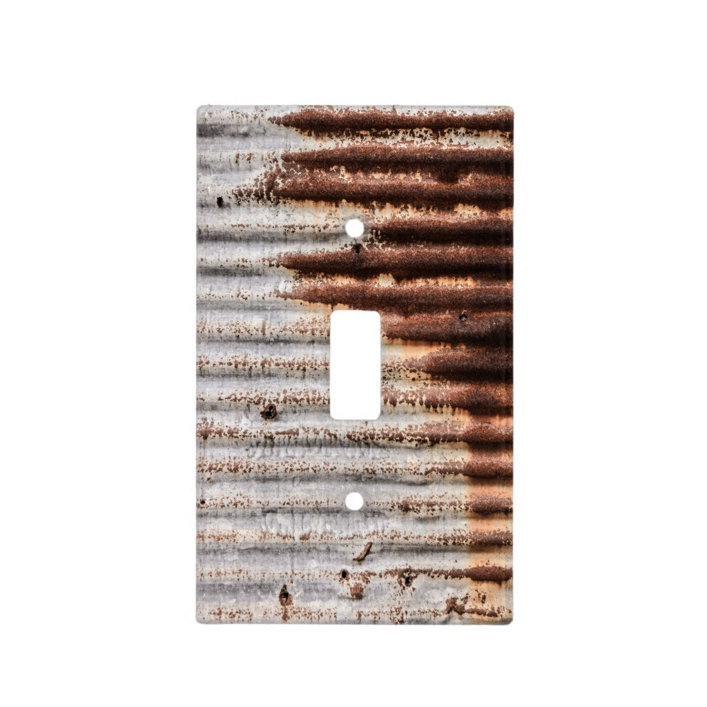 Vintage Rusty Metal Light Switch Cover
