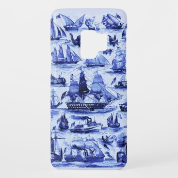 VINTAGE SAILING VESSELS AND SHIPS,Navy Blue Case-Mate Samsung Galaxy S9 Case
