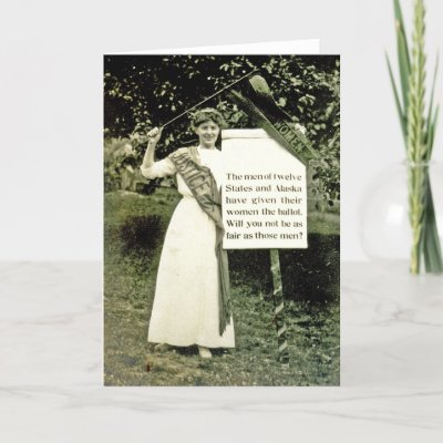 United States suffragette greeting card