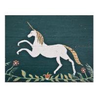 Vintage unicorn postcard