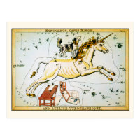Vintage Unicorn Star Constellation Postcard