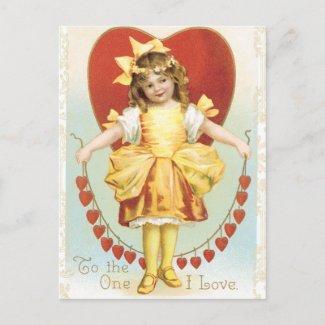 Vintage Valentine Postcard postcard