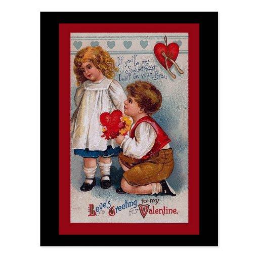 Vintage Valentines Day Card Zazzle
