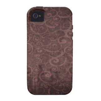 Vintage Victorian Grunge - Chocolate Swirls Patter iPhone 4/4S Case