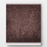 Vintage Victorian Grunge - Chocolate Swirls plaques