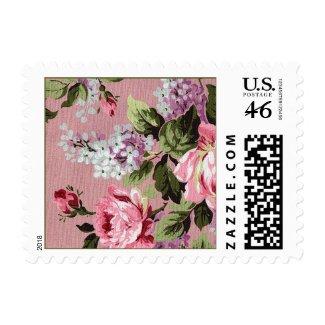 Vintage Victorian Spring Flowers Postage stamp