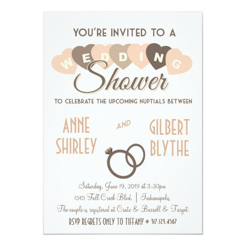 Vintage Wedding Shower Couples Shower Invitation