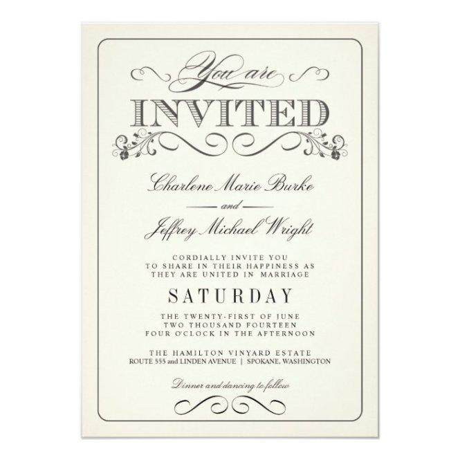 White Elegant Wedding Invitations Wt313