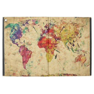"Vintage world map iPad pro 12.9"" case"