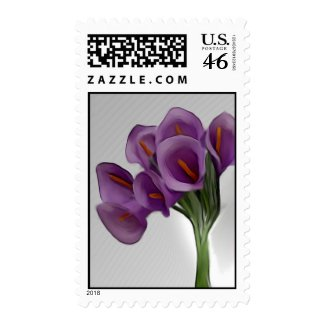 Violet Calla Lilly Postage stamp