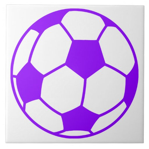 violet purple soccer ball tile zazzle