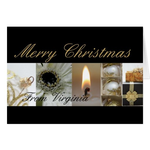 Virginia Merry Christmas Collage Card Zazzle