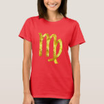 virgo-tshirt-gold-red T-Shirt