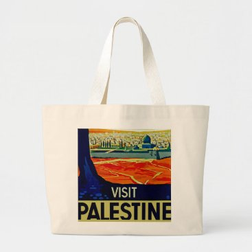 Visit Palestine Large Tote Bag