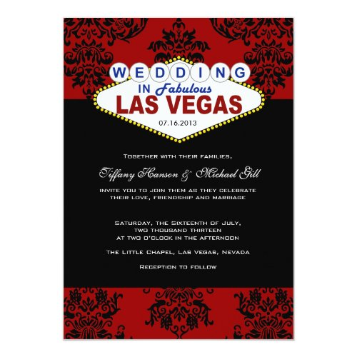 Viva Las Vegas Wedding Invitation