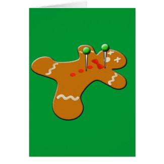 Voodoo Gingerbread Man Christmas Humor Card