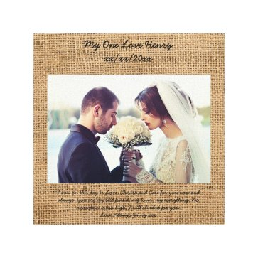Vow renewal gift personalized canvas