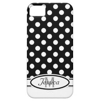 W & B Polka-dot Monogram iPhone 5 Case
